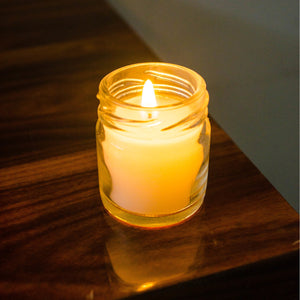 Set of 6 Small Jar Candles in Assorted Fragrances ( Burning Time 10 hours Each ) - auradecor.co.in