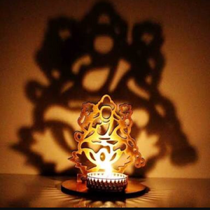 AuraDecor Shadow Laxmiji Tealight Holder - auradecor.co.in
