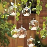 AuraDecor Set of 6 Crystal Hanging Tealight Holder ( 3 Inch ) - auradecor.co.in