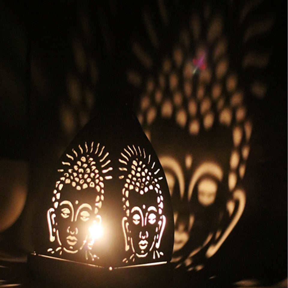 Hanging Buddha Shadow Tealight Holder - auradecor.co.in