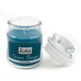 AuraDecor Ocean Breeze Fragrance Jar Candle Burning Time 30 Hours Each - auradecor.co.in