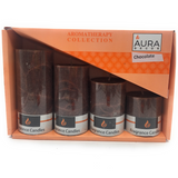 AuraDecor Set of 4 Pillar Candles (Marble Finish) ( 2*2, 2*3, 2*4, 2*4.5) - auradecor.co.in