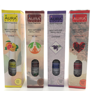 Combo Refill Pack of 4 ( Citrus, Relax, Lavender & Romance ) - auradecor.co.in