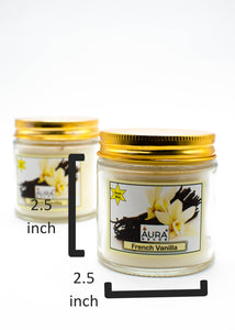 AuraDecor Pack of 2 Soy Wax French Vanilla Fragrance Candle - auradecor.co.in