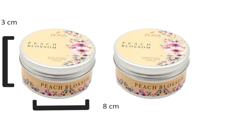 2 Wick Candle Set ( Peach Blossom ) - auradecor.co.in
