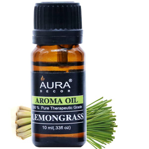 AuraDecor Buy 1 Get 1 Free Highly Fragrance Aromatheraphy LemonGrass oil - auradecor.co.in