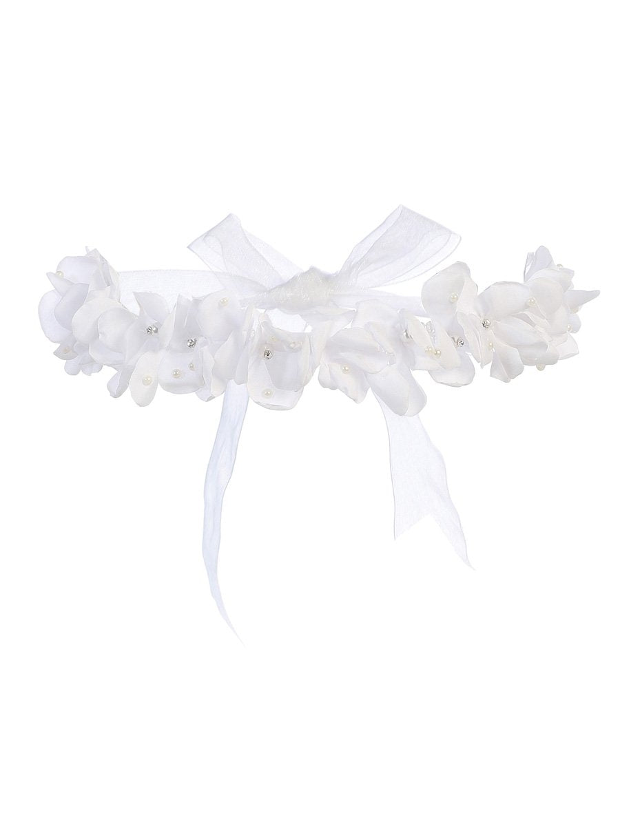 White Big Tie Back Headband