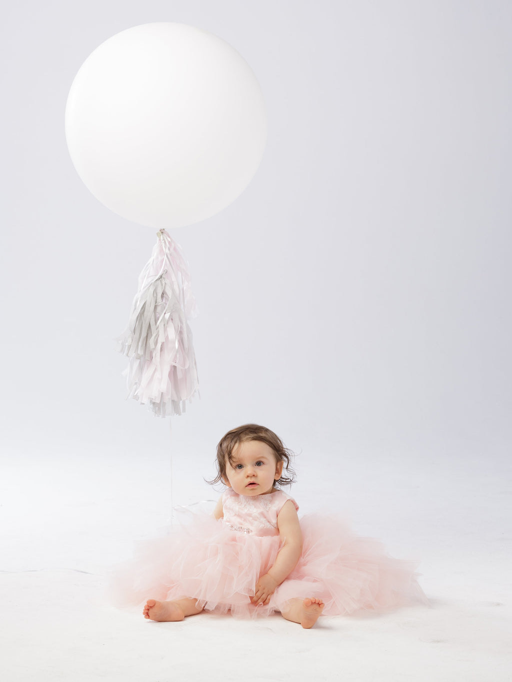 Blush Infant Hi-Low with Lace Bodice and Beaded Sash Dress