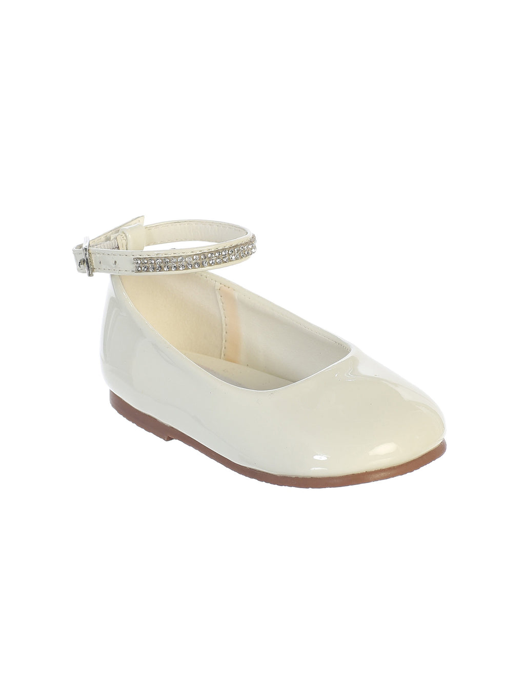 Ivory Flats with Rhinestone Strap
