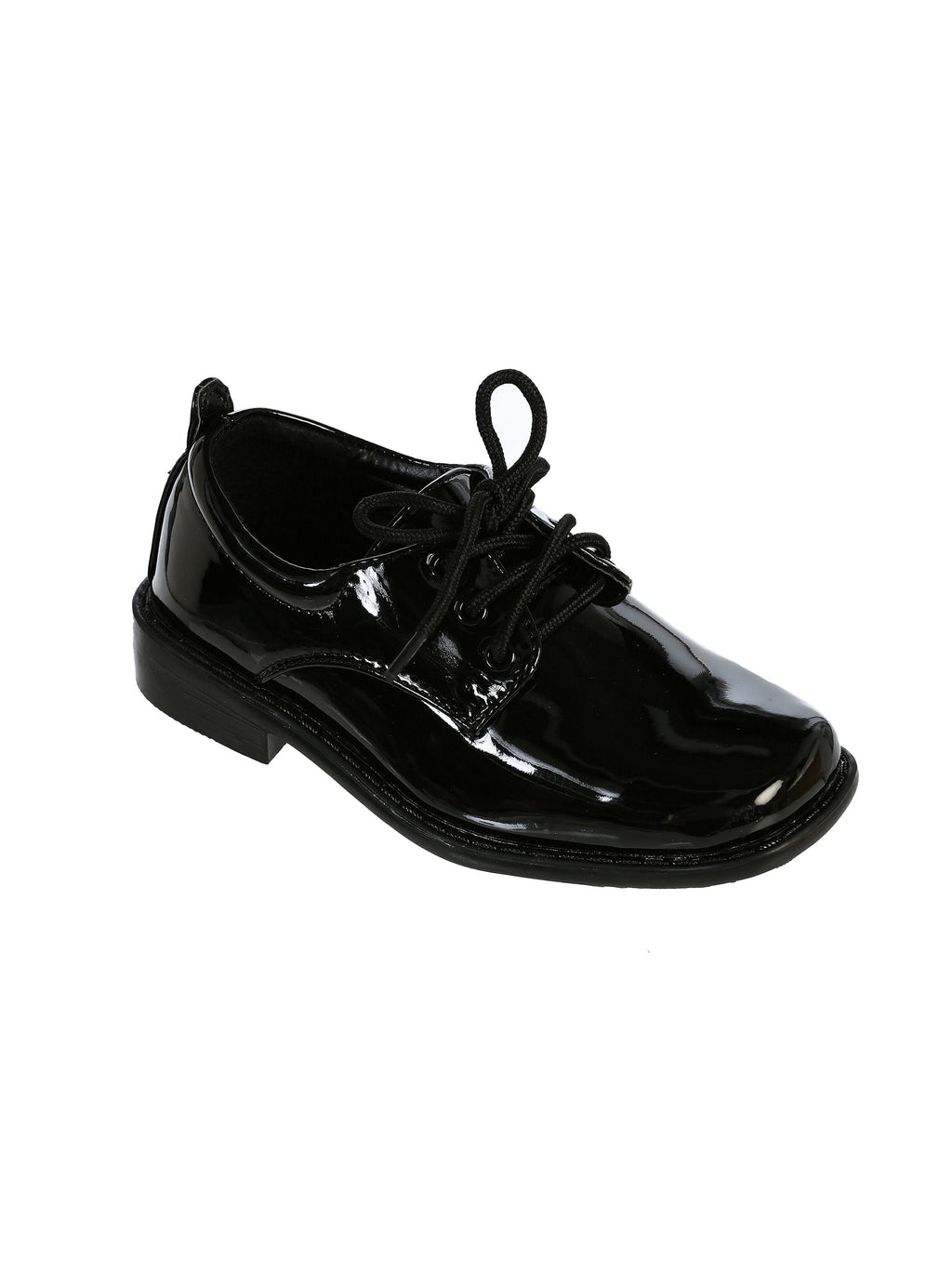 TipTop Patent Shiny Black Boys Dress Oxford Shoes