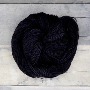 Black - 20g Mini Skein - Tonal Yarn (Everyday Sock)