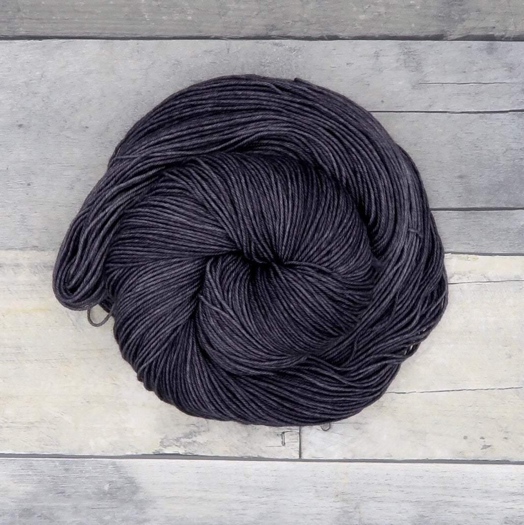 Charcoal - 20g Mini Skein - Tonal Yarn (Everyday Sock)