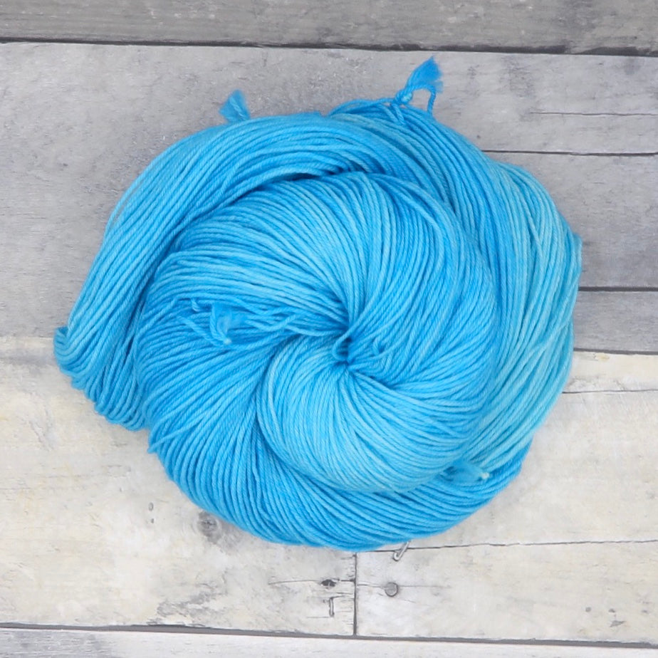 Frozen - 20g Mini Skein - Tonal Yarn (Everyday Sock) -  vibrant, icy blue