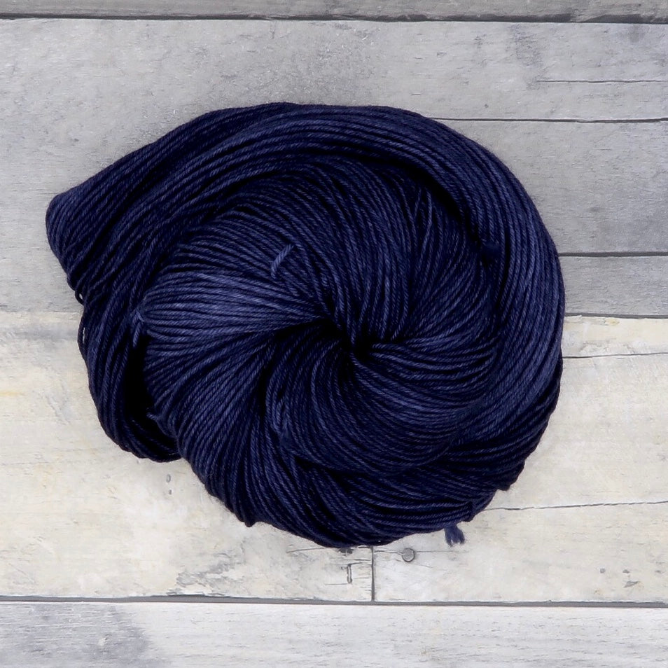 Steeled Blue - 20g Mini Skein - Tonal Yarn (Everyday Sock) -  deep neutral blue