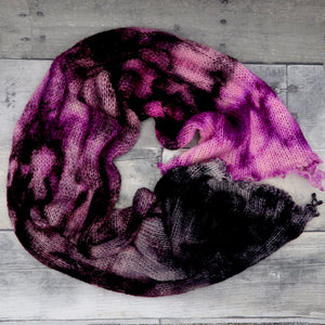 Amortentia - (speckle gradient pair) - deep black fading through purple and pink