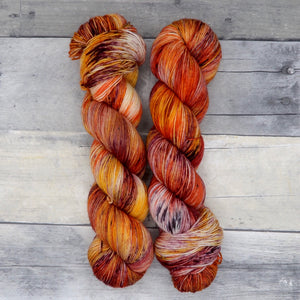 Garrosh (Everyday Sock, variegated) - fiery red, orange and yellow