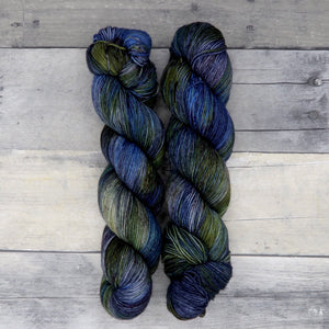 Thrall (Everyday Sock, variegated) - deep blue, grey and green