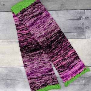 Sock Tube (gradient, muted purple-pink through dark purple) -  60 sts, 8 sts/in, 10 rows/in