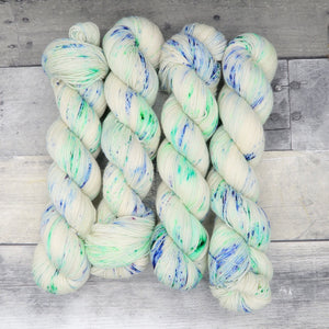 Acid Pops - (Everyday Sock, speckled) - light speckled bright green and blue