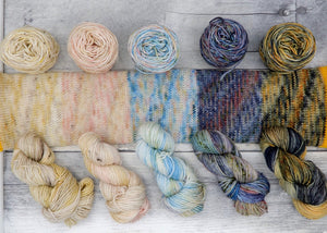 Happy Accident Minis - Set 01 - (Everyday Sock, speckled) set of 5 20g miniskeins