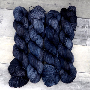 Midnight Sky - (Everyday Sock, tonal) - deep blue-black tonal