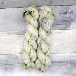 Cunning (Everyday Sock, variegated blend) - speckled greens and grey