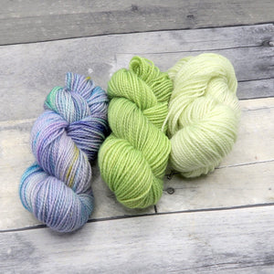 Fairy Garden OOAK Miniskein Set - 20g each (60g total)- Tonal Yarn (Sparkle Sock)