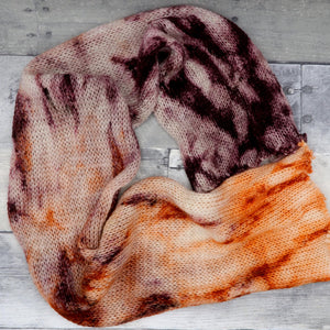 Punkin' Pie - (speckled gradient PAIR (2 50g) - Deep browns fading to a dark mauve into orange