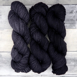 Dark Soul Trio (Merino DK - tonal) - grey, charcoal, and black trio