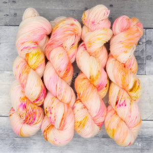 Wildfire Whiz Bangs - (Simple Sock - speckle) - violently vibrant orange, yellow and pink