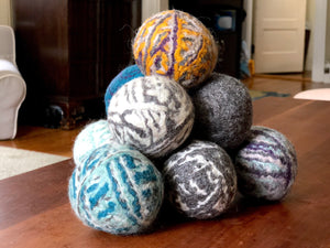 Hand-Felted Wool Balls - assorted colors
