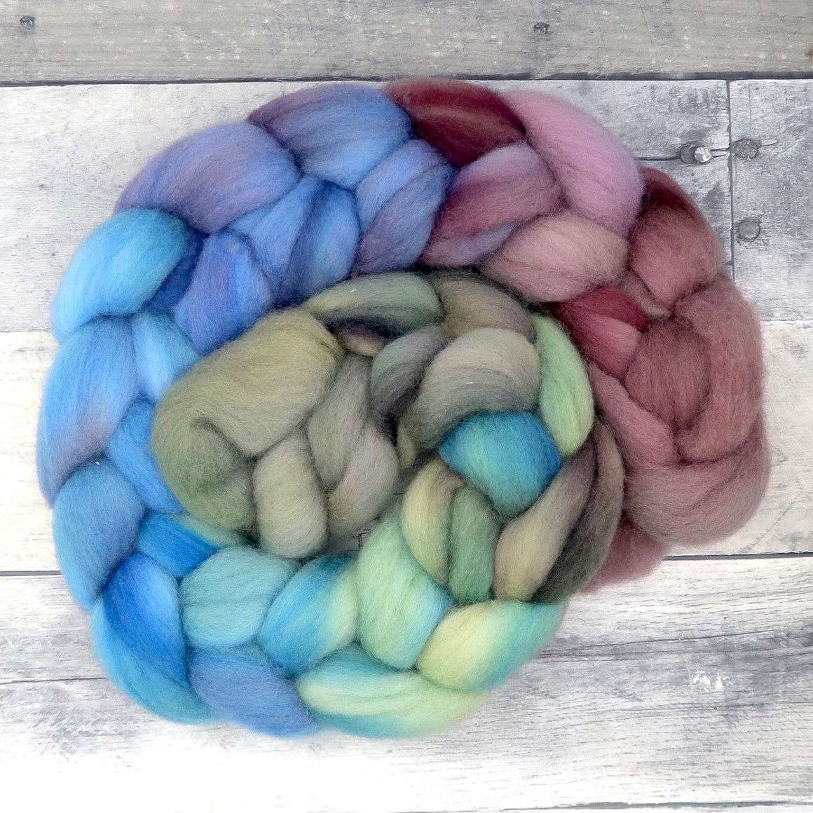 Polwarth, 23 Micron Hand Dyed Combed Wool Top, 4oz