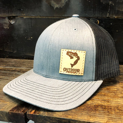 Denim & Black Leather Side Patch Hat