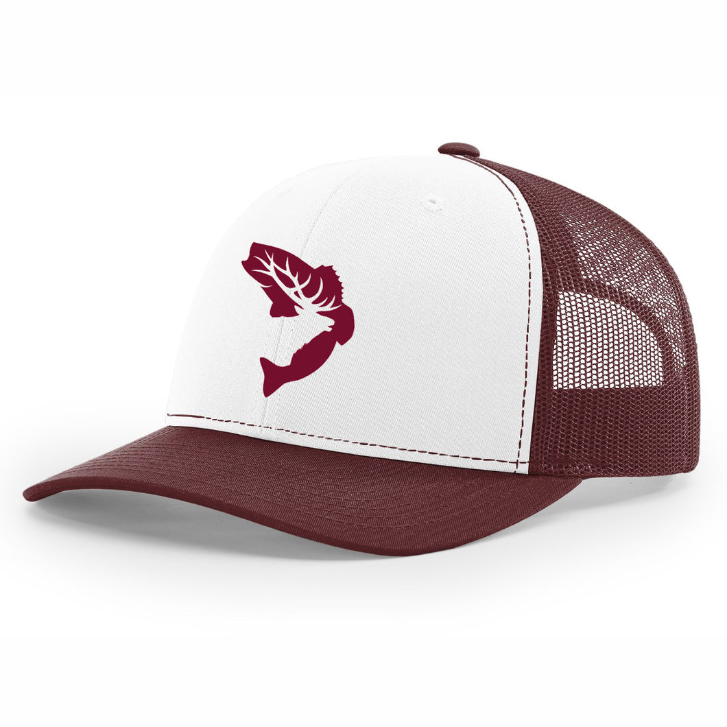 NEW! - White & Maroon Embroidered Hat