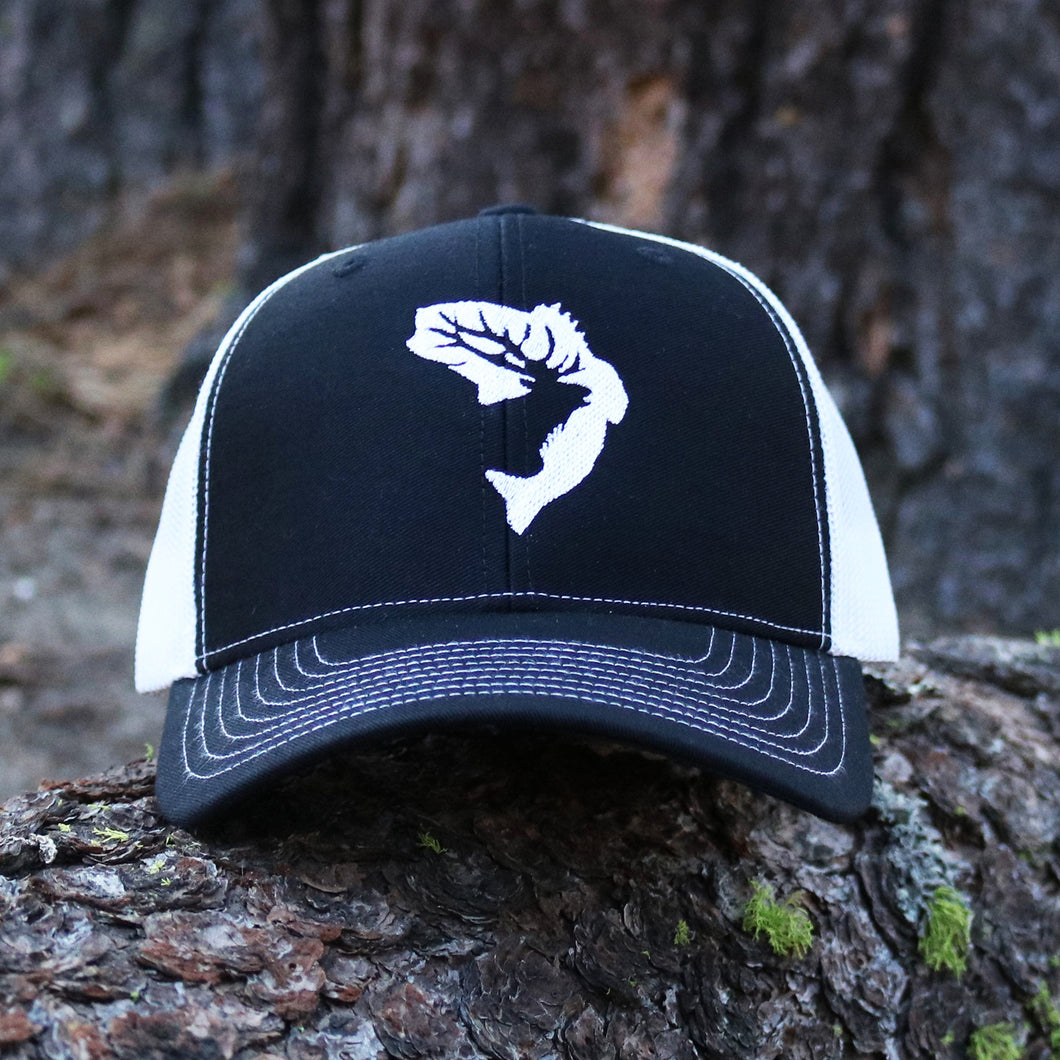 Black & White Embroidered Hat