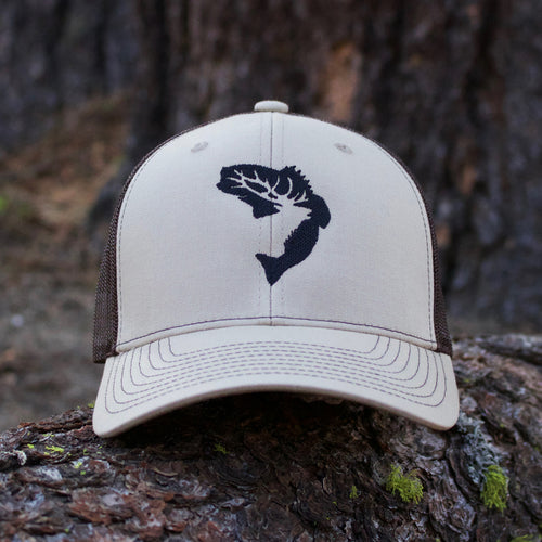 Khaki & Coffee Snapback Hat