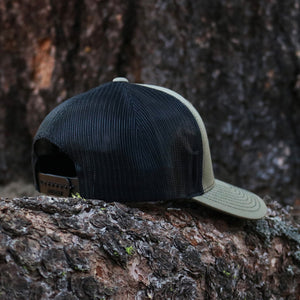 Loden Green & Black Embroidered Hat