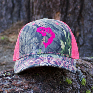Outdoor Ally Pink Icon Camo Snapback hat