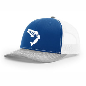 NEW! - Royal Blue & Grey Embroidered Hat