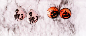 Halloween Metallic Earrings