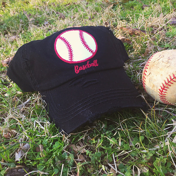 Ladies Distressed Baseball Hats