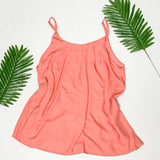 Pleated Spaghetti Strap Cami