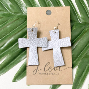 """Abby"" Cross Earrings"