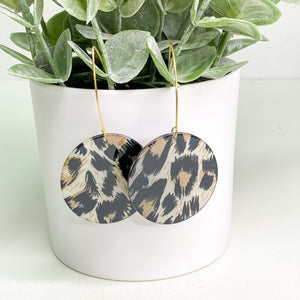 Leopard Disc Statement Earrings
