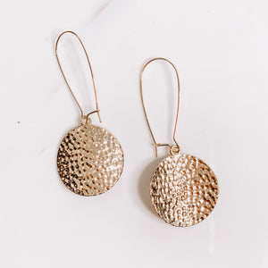 Brad's Deals - Hammered Disc Earrings