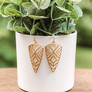 Gold Aztec Earrings