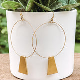 Bar Hoop Earrings