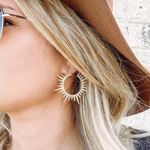 Crystal Sun Hoops