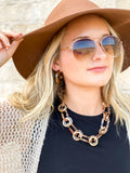 Leopard Chain Link Necklace