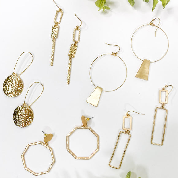 Brad's Deals -  Gold Earring Collection